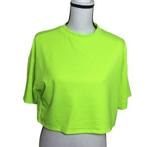 Heart & Hips Women's Cropped Top T-shirt Lime